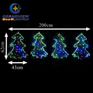 New 4 PCS Green Outline LED Trees Motif Rope Lights pictures & photos