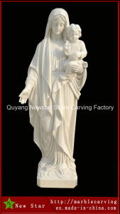 Virgin Maria White Marble Statue pictures & photos