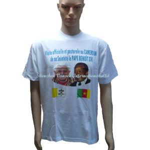 Custom Promotional Plain White T Shirt Wtih Logo pictures & photos