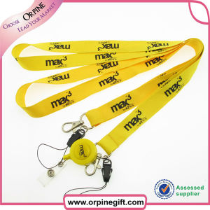 China Fashinable Polyester Lanyard with Badge Holder pictures & photos