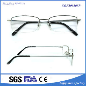 High Quality Half Rim Metal Reading Glasses pictures & photos