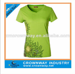 Fashion Running Dry Fit Custom Sport T Shirt for Women pictures & photos