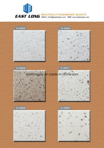 Anti-Crack Single Color Quartz Artificial Stone Slabs pictures & photos