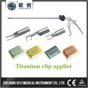 Factory Directly New 10X330mm Laparoscopic Double Action Lt300 Titanium Clip Applier pictures & photos