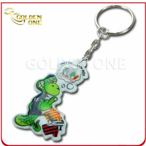 New Style Fashion Plastic Embossed PVC Key Ring pictures & photos