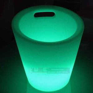 Frost White Plastic Ice Bucket Color Changing with Remote Control pictures & photos