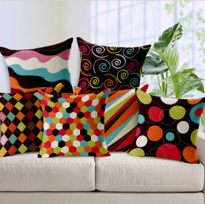 Retro Cushion Printed Cushion Fashion Decorative Cushion (LCL04-390) pictures & photos