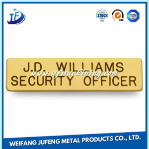 Custom Aluminum Metal Stamping Nameplate with Laser Engraving pictures & photos