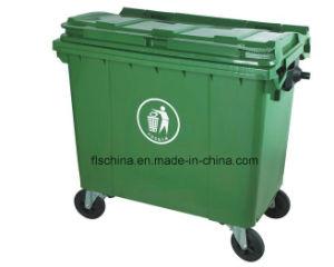 660L 100% Virgin HDPE Material Plastic Large Waste Bin (EN840) pictures & photos
