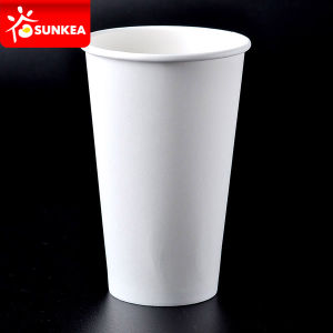 Single Wall 16 Ounce White Paper Coffee Cup pictures & photos