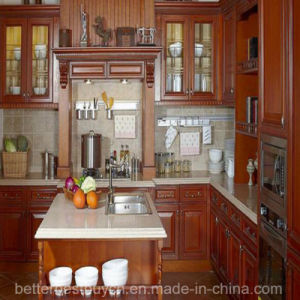 Solid Wood Design Kitchen Cabinet for Home Furniture pictures & photos