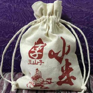 Custom Eco Friendly Reusable Recycle Carry Shopping Tote Cloth Canvas Cotton Bag Drawstring Bag (M. Y. B-001) pictures & photos