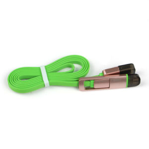 Mini USB Cable Flat 2 in 1 USB Cable USB Multi Charging Cable pictures & photos