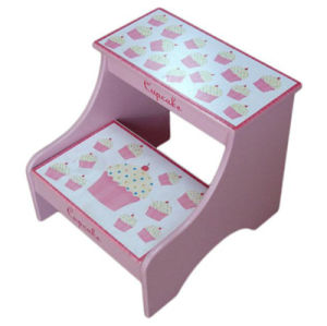 Deluxe Children Chair Toddlers Wooden Step Stool with Storage (BS-01) pictures & photos