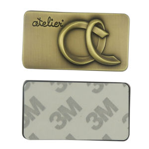 Rectangle Brushed Bronze Metal Plate with 3m Sticker pictures & photos