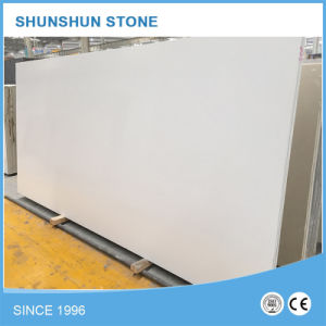 Pure White Artificial Engineered/Quartz Slab for Kitchen Countertop pictures & photos