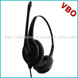 Best Binaural Rj9 Call Center Noise Cancelling Telephone Headset pictures & photos