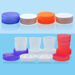 180ml folding plastic cup, foldable cup, collapsed mug