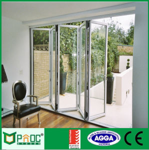 European Standard Aluminium Glass Folding Door with Screen pictures & photos