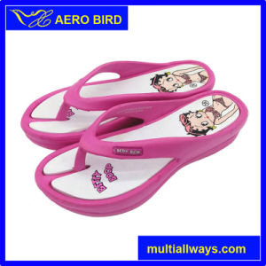 2016 Girls EVA Injection Flip Flop with Cute Print pictures & photos