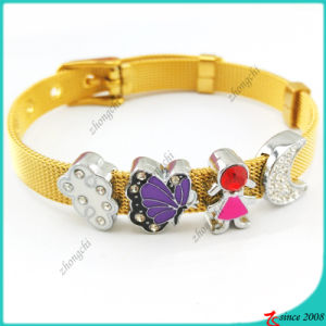 DIY Slide Charms Stainless Steel Bracelet (B16041923) pictures & photos