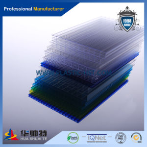 Twin-Wall Polycarbinate Hollow Sheet PC Roofing Sheet (PC-H10) pictures & photos