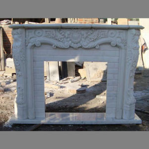 Hand Carved  Marble  French  Fireplace  Mantel pictures & photos