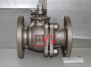 Worm Gearbox Big Size A105 Bolted Ball Valve pictures & photos
