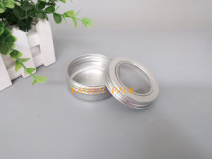 60g Cosmetic Cream Aluminum Jar with Window Screw Lid (PPC-ATC-60) pictures & photos