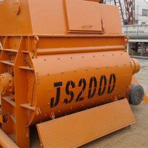 Js2000 Twin Shaft Concrete Mixer in China pictures & photos