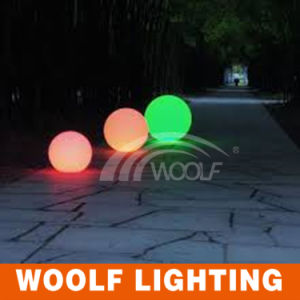 Rechargeable Waterproof Outdoor Large Plastic Illuminated LED Light Ball pictures & photos