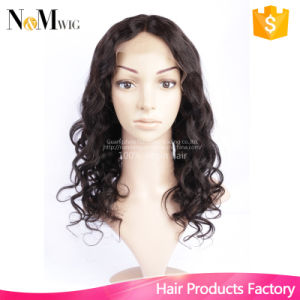 Glueless Cap with Combs and Straps Loose Curly Wave Wig Natural Black Hair Color Can Be Dye 100% Natural Hair Wigs pictures & photos