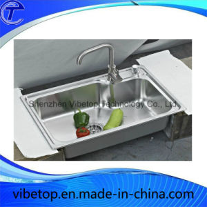 Factory Wholesale Double Bowls Stainless Steel Kitchen Sink pictures & photos