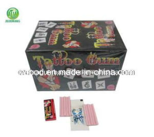 Jjw 5g Fruit Flavor Happy Tattoo Bubble Gum pictures & photos