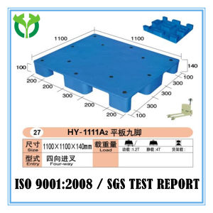 1100*1100 Solid Surface 9 Legs Recycle Material Plastic Pallet