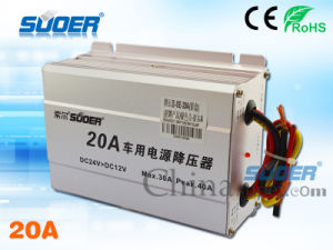 Suoer Power Transformer DC 24V to 12V Electronic Transformer for Cars with CE&RoHS (SE-20A) pictures & photos