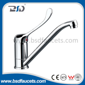 Long Lever Brass Sink Faucet for Hospital (hospital mixers) pictures & photos