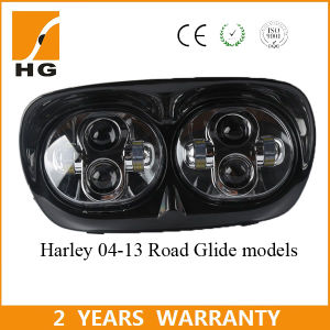 """Dual 5 3/4"""" LED Headlight for Motorcycle Harley Road Glide Double Headlamp Hilow Beam pictures & photos"""