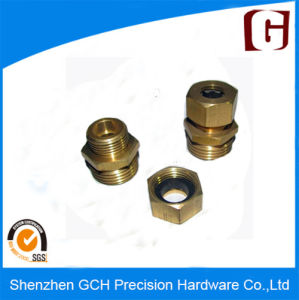 High Precision CNC Screw Rod Part Brass Machining