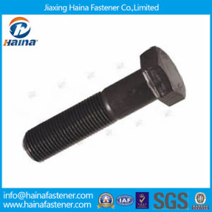 DIN960 Black Oxide Gr8.8 Gr10.9 Fine Threaded Hex Cap Screw pictures & photos