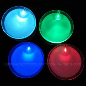 Plastic LED Blinky Round Badges with Logo Print (3569)