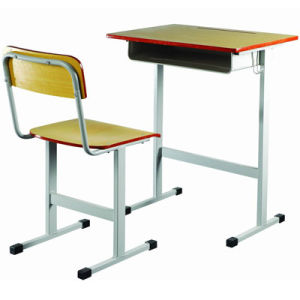 Best Quality Single Student Desk and Chair/School Furniture in Classroom (FS-3219) pictures & photos