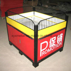 Metal Collapsible Promotion Table with Adjustable Feet pictures & photos