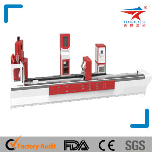 Metal Pipe Laser Cutting Machine (TQL-LCY620-GB3015) pictures & photos
