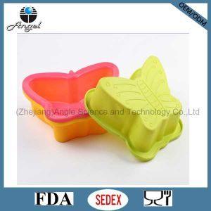 Big Size Butterfly Silicone Cake Baking Pan Silicone Muffin Pan Sc10 pictures & photos