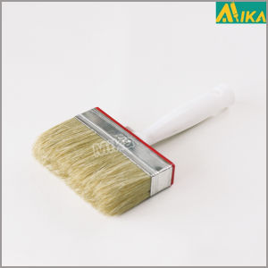 Pure White Bristle Flat Paint Brush pictures & photos
