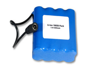 7.4V Lithium-Ion Rechargeable LiFePO4 Battery (4400mAh) pictures & photos