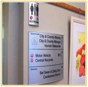 Curved Wall-Mounted Sign/ Rest Room Sign pictures & photos