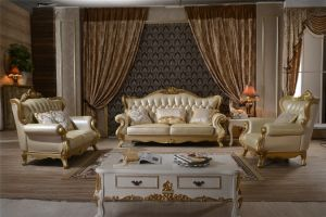 2015 New Model Sofa Sets Pictures, Classic French Style Carved Sofa, Wooden Sofa Set Designs pictures & photos