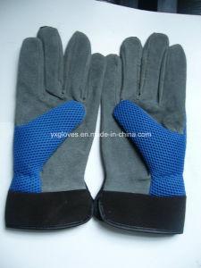 Garden Glove-Pig Split Leather Glove-blue Glove pictures & photos